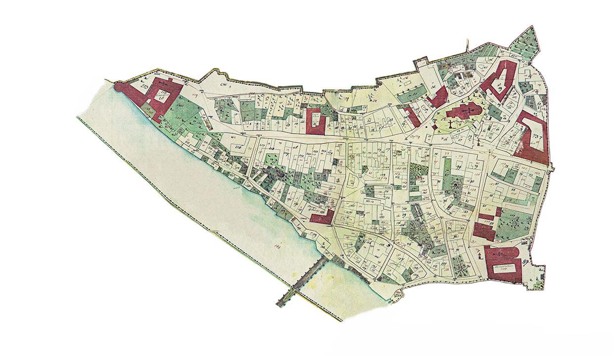 Kataster mesta Ptuja iz leta 1824