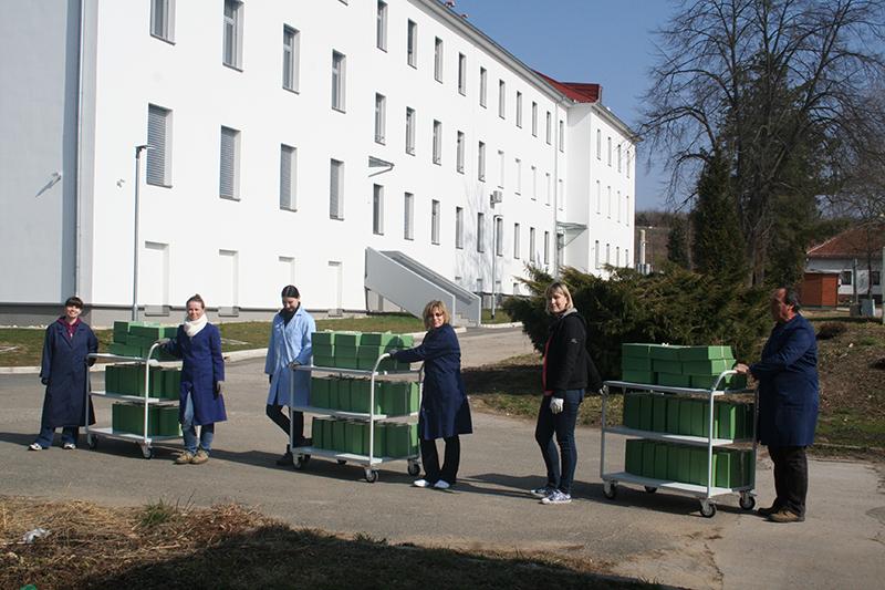 Selitev arhivskega gradiva v nove prostore na Vičavi