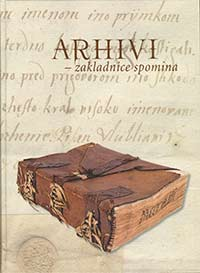 Platnica knjige ARHIVI - zakladnica spominov